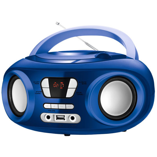 RADIO CD BRIGMTON W-501 AZUL USB BLUETOOTH