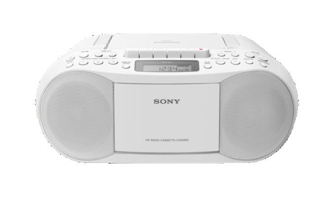 RAD/CAS/CD SONY CFD-70W CASETTE STEREO WHITE