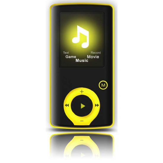 REPROD. MP3 BRIGMTON BPA 81-Y AMARILLO FM-8GB