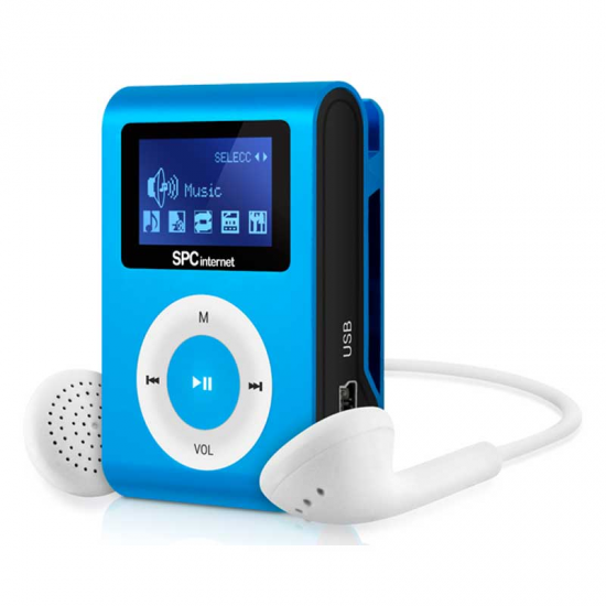 REPROD. MP3 INTERNET 8544A AZUL 4GB PINZA RADIO