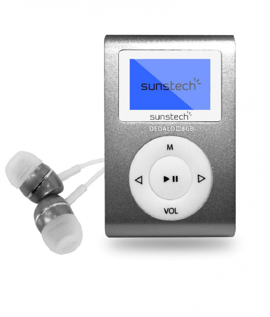 REPRODUCTOR MP3 SUNSTECH DEDALOIII8GBGY 8GB 1,1