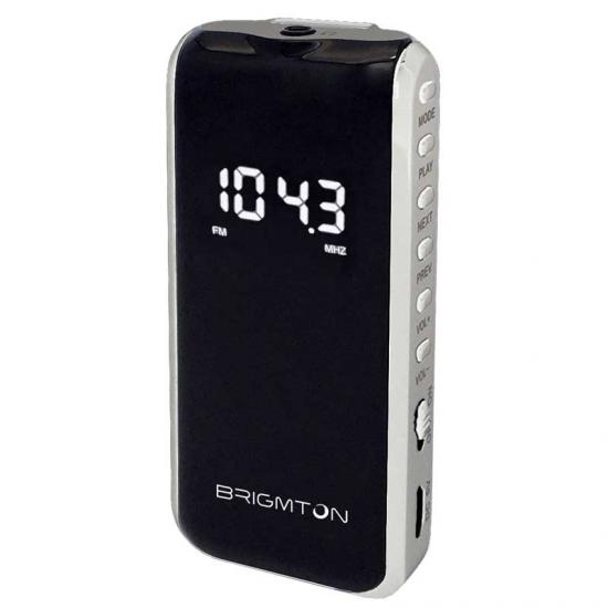 TRANSISTOR BRIGMTON BT 124 B BLANCO SD MP3 DIGITAL