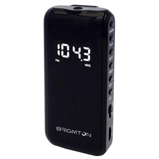 TRANSISTOR BRIGMTON BT 124 N NEGRO SD MP3 DIGITAL