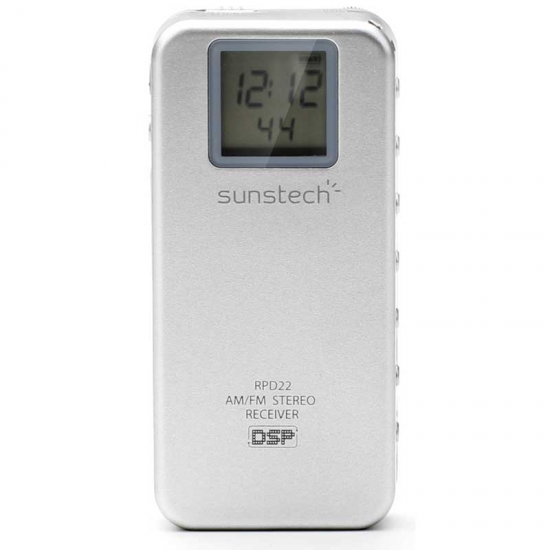 TRANSISTOR SUNSTECH RPD22SILVER AM/FM