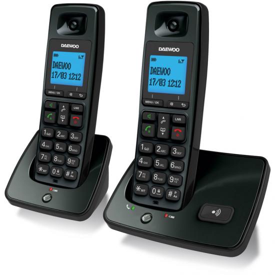 TELEFONO DAEWOO DTD-4100 NEGRO DECT DUO