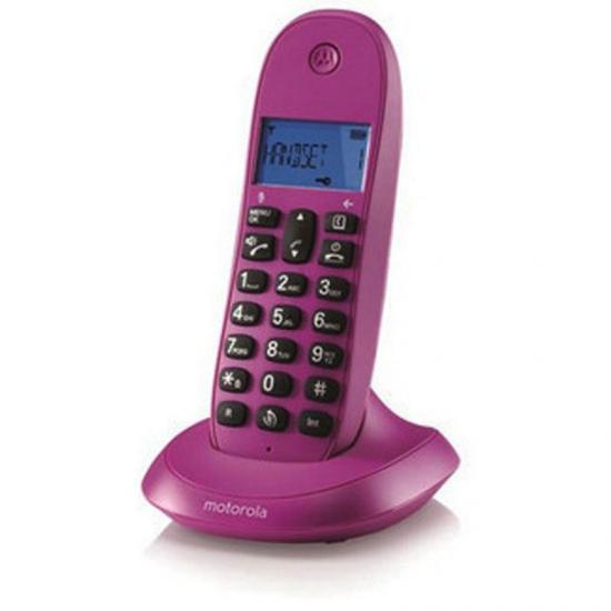 TELEFONO MOTOROLA DECT C1001 ROSA SINGLE