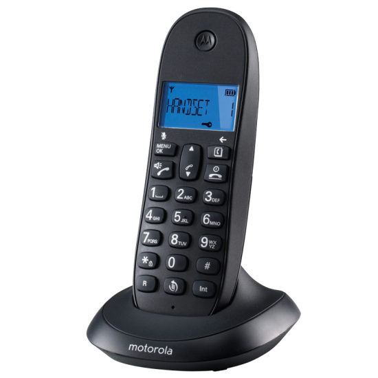 TELEFONO MOTOROLA DECT C1001 NEGRO SINGLE