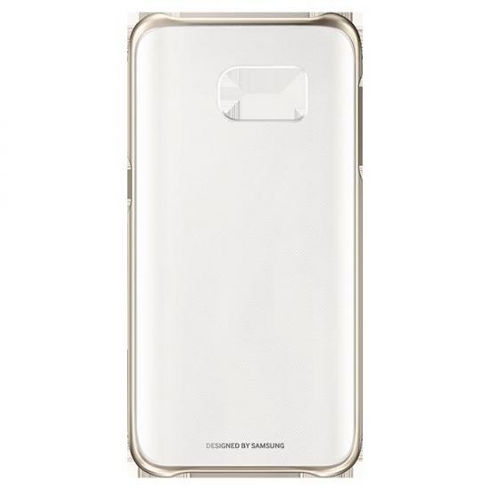 FUNDA SAMSUNG S7 CLEAR COVER GOLD EF-QG930