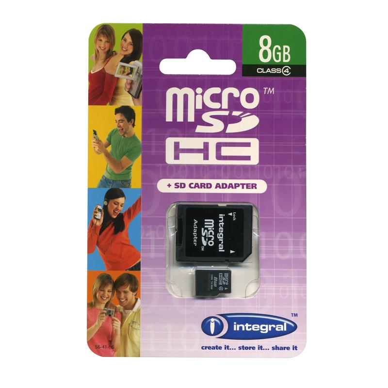 TARJETA MEM. INTEGRAL SD HC 8GB INSDH8G4