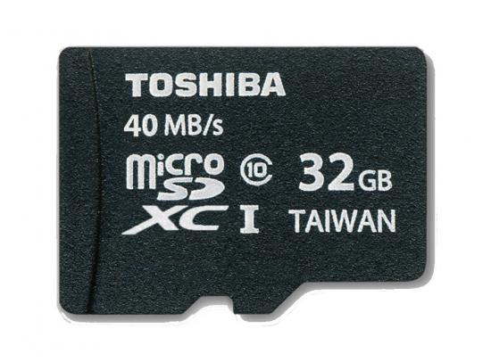 TARJ. MEMORIA TOSHIBA MICRO SD 32GB CLASS 10 ADAP.